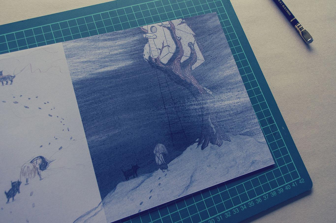 Het resultaat van de laatste strijd, een sneak peek van een tekening uit het aankomende boek.