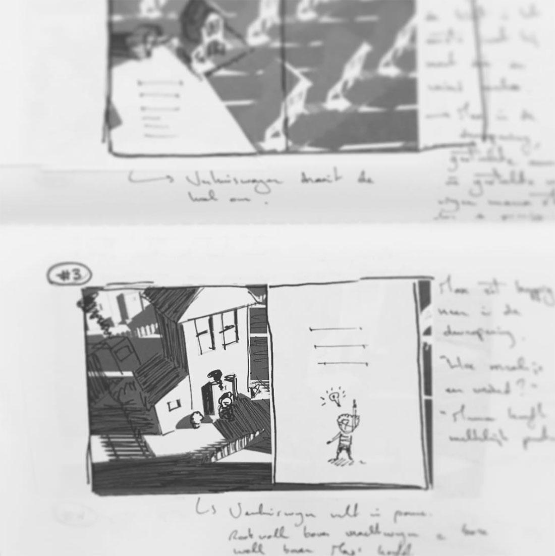 Storyboard voor een nieuw kinderboek