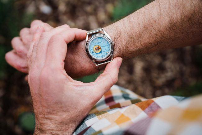 Illustratie voor een horloge van Mr Jones